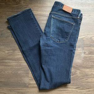 Madewell Straight Dark Wash Jeans Size 27 X 32